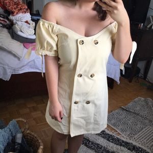 Soft Yellow Denim ASOS dress